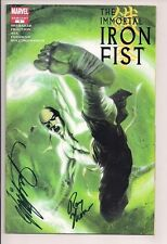 Immortal Iron Fist #1 Signed by Chris Claremont & Roy Thomas W/COA  Dell'Otto