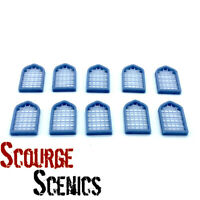Resin 28mm Open Fantasy Medieval Windows with Horizontal Bars