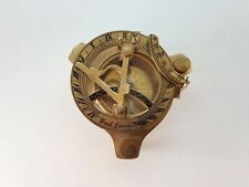 Antique Brass Reproduction Sundial Maritime Compass Desk by West London