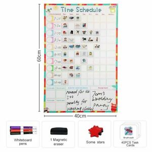 Magnetic Fridge Erasable Kids Weekly Schedule Calendar Daily Planner