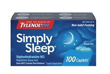Simply Sleep Non-Habit Forming Nighttime Sleep Aid Caplets 100 Count Exp 01/22