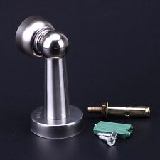 New Stainless Steel Magnetic Door Stop Stopper Holder Catch & Fitting Screws .