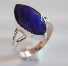 4.20 Gm Rings Blue Sapphire Ring Gemstone 925 Solid Sterling Silver Size 9 K-767