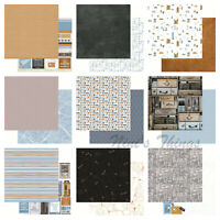 "Kaisercraft Let's Go 12x12"" - Double Sided Craft Scrapbooking Paper Travel Boys"