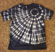 Lands End Boys Large 14 - 16 Navy Blue Cotton Tie Dye Short Sleeve T Shirt