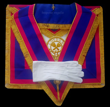 More details for masonic regalia-mark-mark  provincial dress apron and collar package (lambskin)