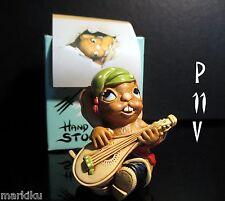 New Nos Pendelfin Casanova Green hat stoneware figurine rabbit Bunny w/ Box