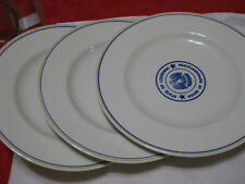 """3 Dinner Plate State Of Louisiana House of Representative10/1/2"""" Good Condition."""