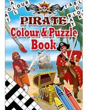 Bulk Wholesale Job Lot 288 A6 Pirate Colour & Puzzle Books Toys