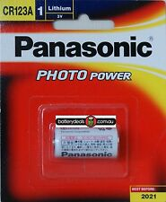Genuine Panasonic CR123A Lithium 3V Battery for photo camera CR-123AW/1BE