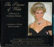 Princess Of Wales Musical & Pictorial memoir cd/book- New Zealand Orchestras