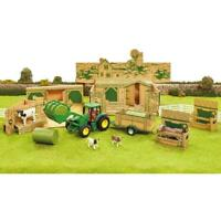 Britains Accessories Diorama Farm Building With Tractor John Deere And Trailer G