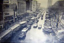 B/W Photo 35mm Slides Lot of 2 Vtg Capitol Square Street Car Bus Parkway 1949 86
