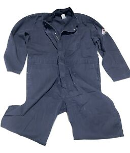 Bulwark Midweight Excel Flame Resistant Coverall FR Used Work Uniform Navy