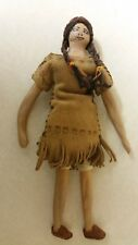 Antique Native American Doll. Composite Head, Arms And Legs. 10 Inches High.