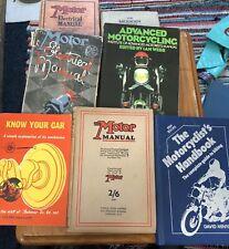 Joblot Vintage Motoring Books Classic Car Motorcycle Diesel Engine Motor Manual