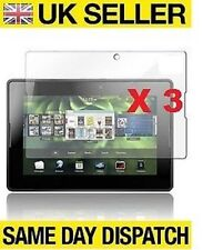 3 x BB Blackberry Playbook Lcd Screen Protectors Cover Film & Free Cloth
