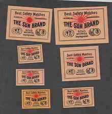 Anciennes étiquettes allumettes  Tchécoslovaquie  FF127 Le Soleil