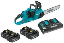 """Makita XCU03PT1 18V LXT 14"""" Brushless Chainsaw Kit 4 Batteries 5.0AH and charger"""