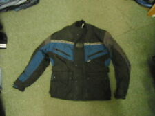 Frank Thomas Gore-Tex Small Mens Black Blue & Grey Textile Motorbike Jacket