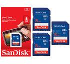 Lot of 3 SanDisk 8GB Flash Digital Camera Memory Card SD SDHC Class 4 SDSDB Pack