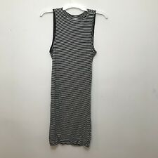 Heart Hips Womens Stripe Body Con Dress, Sleeveless, Open Back, Size Large