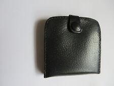 Vintage black leather Unused mens wallet purse