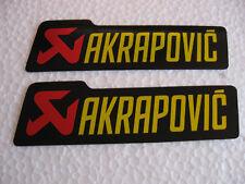 Sticker Aufkleber Akrapovic hitzebeständig Motorradsport Motorcross Auspuff Race