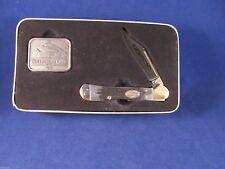Case 1999 Collectors Club Copperlock Gunmetal Black Knife Mint In Case Tin #0825
