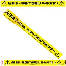 "Warning - Protect Yourself  - Floor Marking Tape (2"" / 48mm x 33m)"