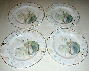 """FALL Melamine Dinner Plates  Set of 4 PUMPKIN HARVEST 11"""" Diameter"""