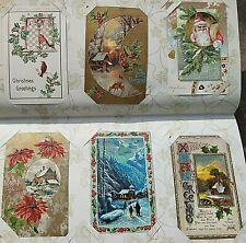 Packed Postcard Album - VINTAGE -135 Greeting/Holidays- 1 Santa - Thanksgiving++