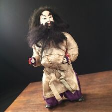 Vtg Doll Signed Asian Japanese Kabuki Samurai Martial Arts Japan PRIORITY MAIL