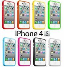 iPhone 4 4s Soft Plastics Rubber Bumper Case Protector Multiple Colours PF-05