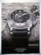 PUBLICITE-ADVERTISING :  PANERAI Luminor Submersible 1950  2015 Montres