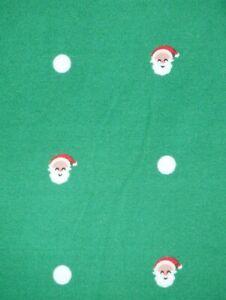 LuLaRoe OS ~ Polka Dot Santa and White Dot over CHRISTMAS GREEN