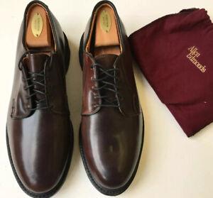 Allen Edmonds 'Leeds' Plain Toe Derby Burgundy Shell Cordovan Size 8.5E $740 *