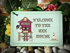 HEN HOUSE / CHICKEN COOP Sign Personalised Custom Handmade Plaque - Add Own Text