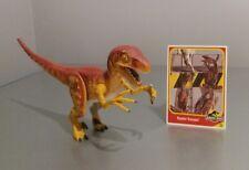 Rare Jurassic Park Velociraptor Electronico Dino Screams JP10 figure 1993 + Card