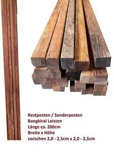 Sonderposten Restposten 8€/Stück 2m Bangkirai Holzleiste Drechselholz Bastelholz