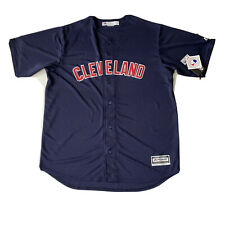 Cleveland Indians MLB Majestic Authentic Cool Base Stitched Jersey Blue XLT Tall