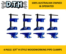 4 PIECE HEAVY DUTY 3/4'' H STYLE WOODWORKING PIPE CLAMPS