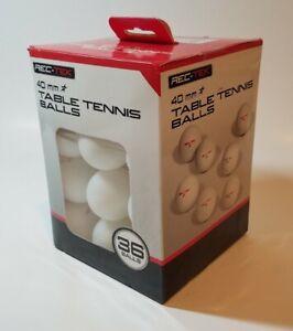 Rec-Tek Table Tennis Balls 40mm 1 Star White  36 Balls  Official Tournament Size