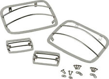 Light Guard Set 4 piece Polished Stainless Jeep Wrangler YJ 1987-1995 30558