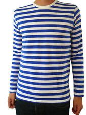 Camisetas de hombre de manga larga en azul color principal blanco