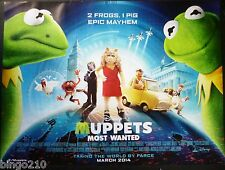 MUPPETS MOST WANTED 2014 QUAD POSTER KERMIT ANIMAL MISS PIGGY RICKY GERVAIS