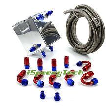 2L Universal Complete Fuel Surge Tank 2 Litre Swirl Pot System kits Aluminium