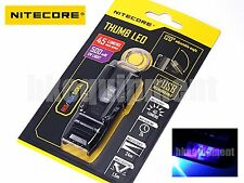 NiteCore THUMB LEO Rechargeable USB Clip Keychain+UV Flashlight Money Checker