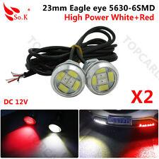 6 LED Red/White Switchback Eagle Eye Fog Daytime Running Light DRL Head Lamp X 2