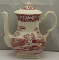 Spode Tower-Pink Coffee Pot & Lid